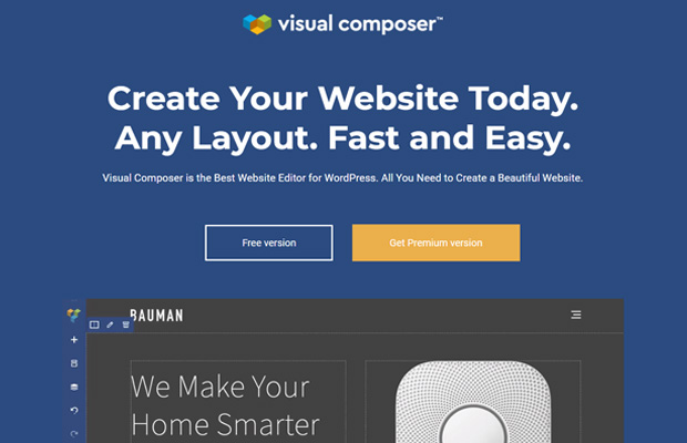 Visual Composer Meilleur constructeur de sites Web par glisser-déposer en WordPress