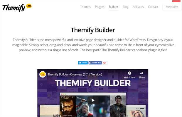 Plugin WordPress Page Builder de Themify Builder